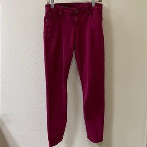 Kut DIANA skinny maroon stretch and jeans